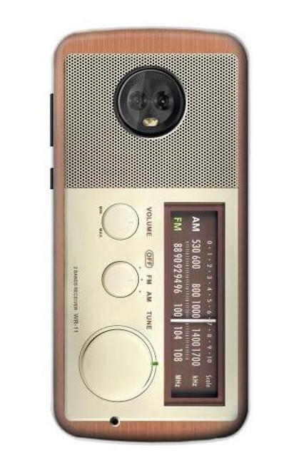S3165 FM AM Wooden Receiver Graphic Case For Motorola Moto G6