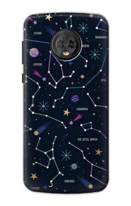 S3220 Star Map Zodiac Constellations Case For Motorola Moto G6