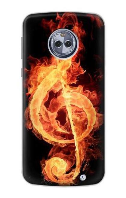 S0493 Music Note Burn Case For Motorola Moto G6 Plus
