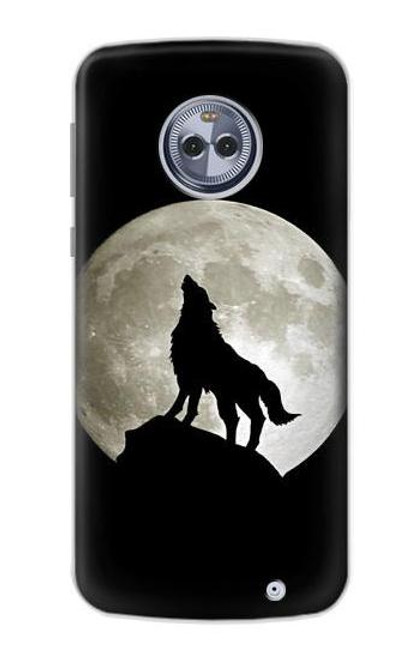 S1981 Wolf Howling at The Moon Case For Motorola Moto G6 Plus