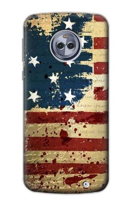 S2349 Old American Flag Case For Motorola Moto G6 Plus