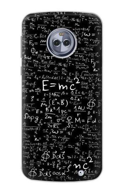 S2574 Mathematics Physics Blackboard Equation Case For Motorola Moto G6 Plus