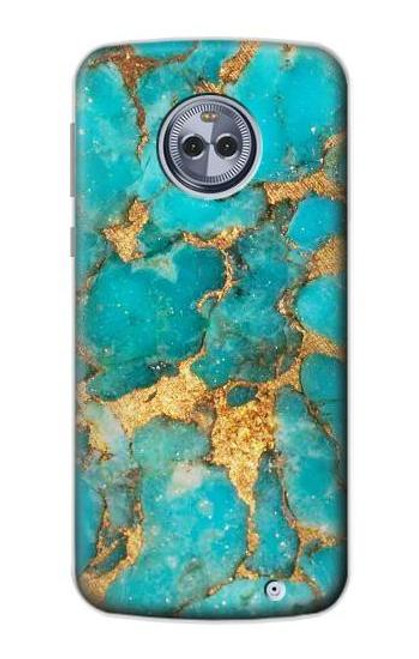 S2906 Aqua Turquoise Stone Case For Motorola Moto G6 Plus