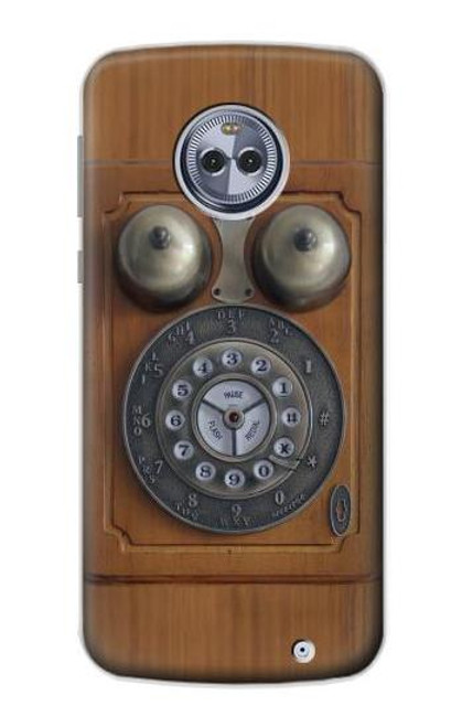 S3146 Antique Wall Retro Dial Phone Case For Motorola Moto G6 Plus