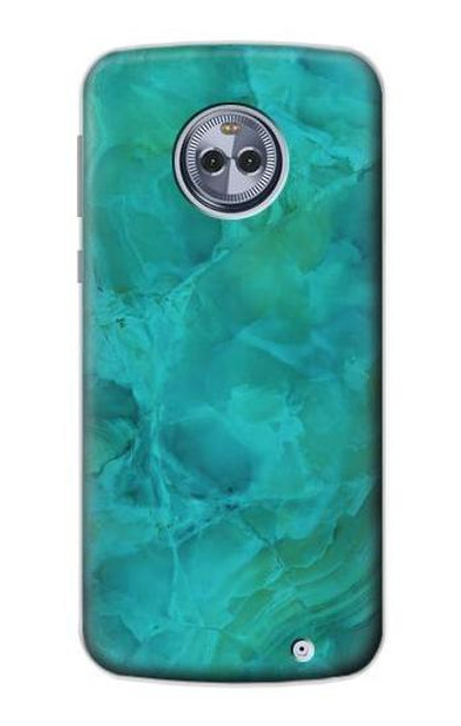 S3147 Aqua Marble Stone Case For Motorola Moto G6 Plus