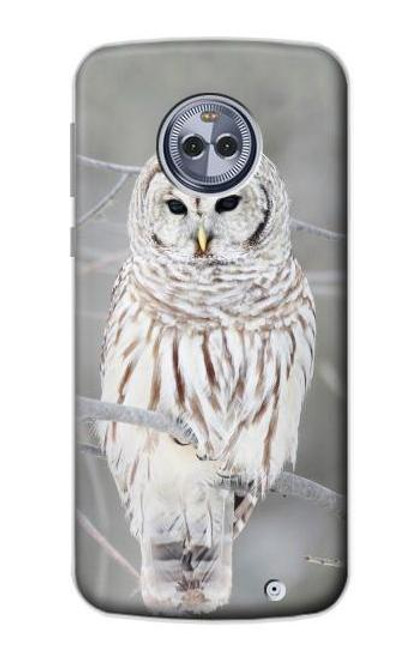 S1566 Snowy Owl White Owl Case For Motorola Moto X4