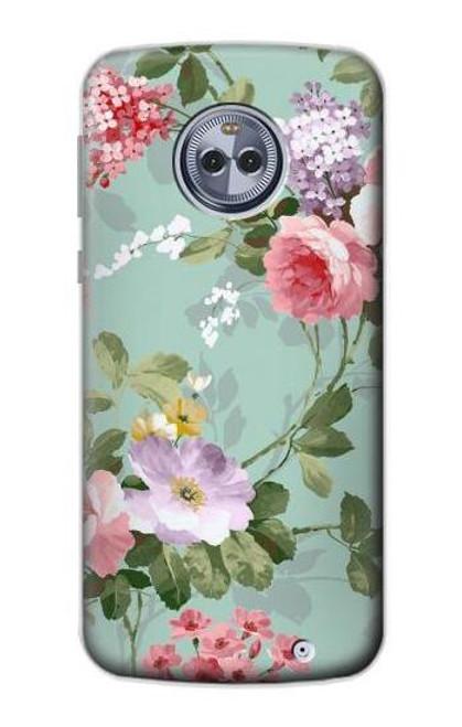 S2178 Flower Floral Art Painting Case For Motorola Moto X4
