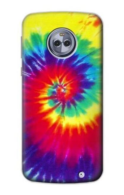 S2884 Tie Dye Swirl Color Case For Motorola Moto X4