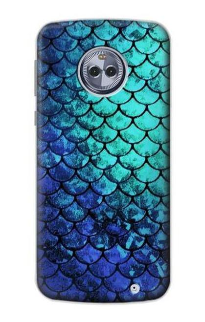 S3047 Green Mermaid Fish Scale Case For Motorola Moto X4