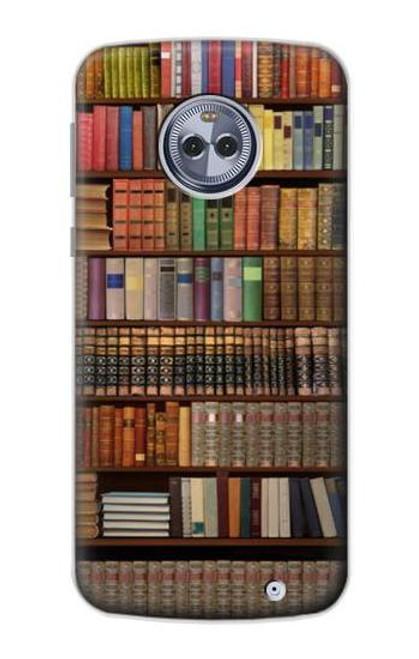 S3154 Bookshelf Case For Motorola Moto X4