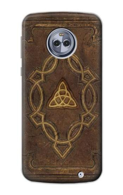 S3219 Spell Book Cover Case For Motorola Moto X4