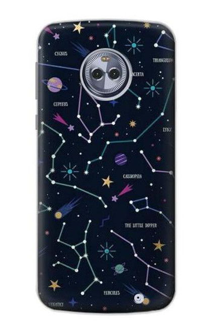 S3220 Star Map Zodiac Constellations Case For Motorola Moto X4