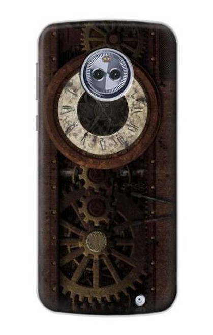 S3221 Steampunk Clock Gears Case For Motorola Moto X4
