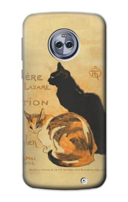 S3229 Vintage Cat Poster Case For Motorola Moto X4