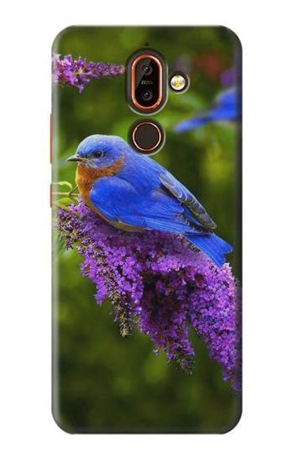 S1565 Bluebird of Happiness Blue Bird Case For Nokia 7 plus