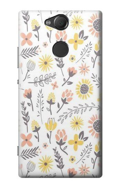 S2354 Pastel Flowers Pattern Case For Sony Xperia XA2