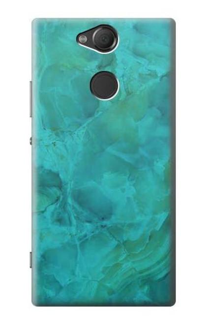 S3147 Aqua Marble Stone Case For Sony Xperia XA2