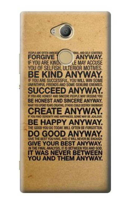 S2513 Mother Teresa Anyway Quotes Case For Sony Xperia XA2 Ultra