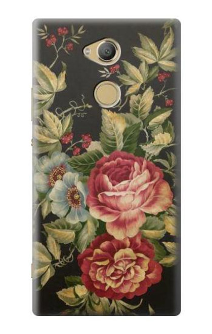 S3013 Vintage Antique Roses Case For Sony Xperia XA2 Ultra
