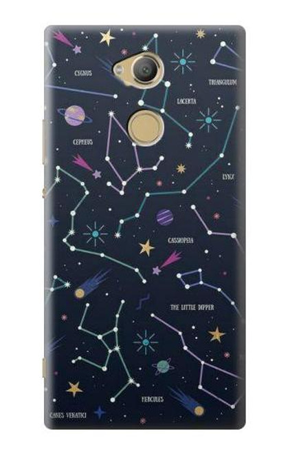 S3220 Star Map Zodiac Constellations Case For Sony Xperia XA2 Ultra