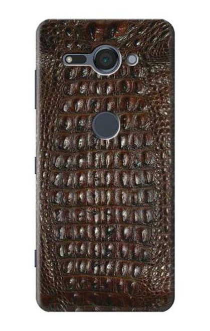 S2850 Brown Skin Alligator Graphic Printed Case For Sony Xperia XZ2 Compact