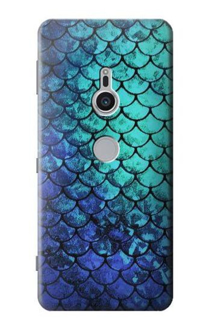 S3047 Green Mermaid Fish Scale Case For Sony Xperia XZ2