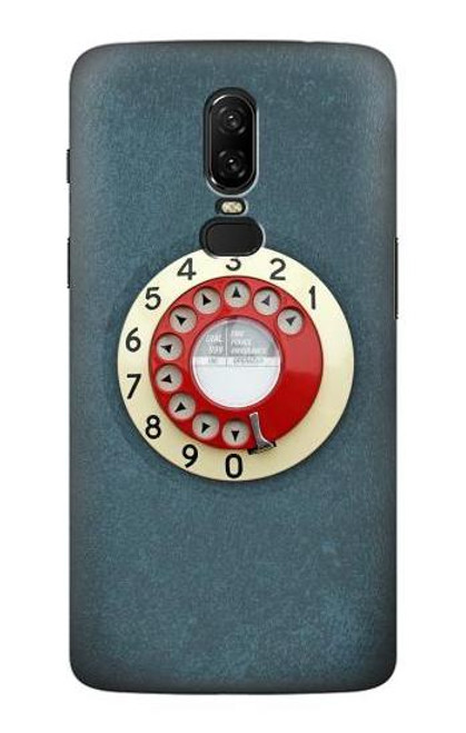 S1968 Rotary Dial Telephone Case For OnePlus 6
