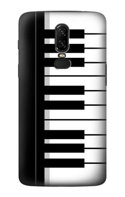 S3078 Black and White Piano Keyboard Case For OnePlus 6