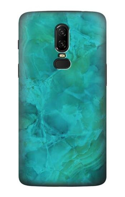 S3147 Aqua Marble Stone Case For OnePlus 6