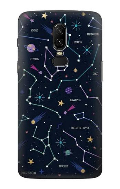 S3220 Star Map Zodiac Constellations Case For OnePlus 6