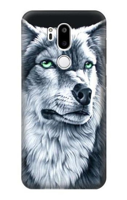 S0123 Grim White Wolf Case For LG G7 ThinQ