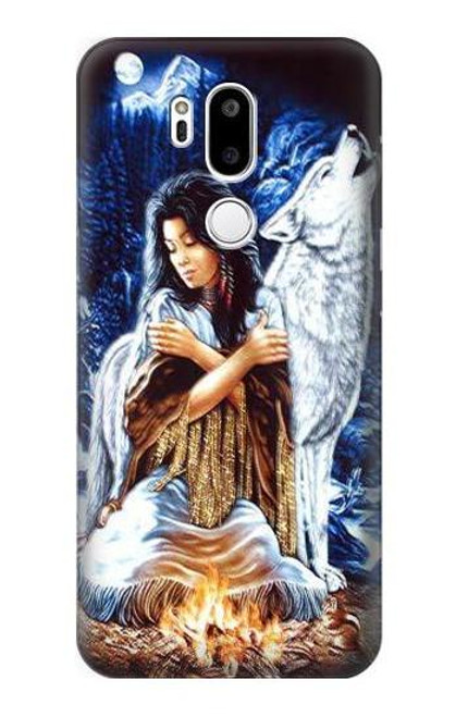 S0147 Grim Wolf Indian Girl Case For LG G7 ThinQ