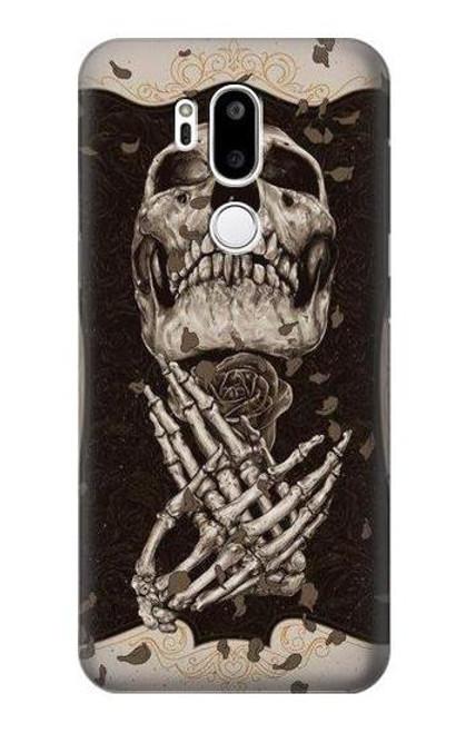 S1676 Skull Rose Case For LG G7 ThinQ