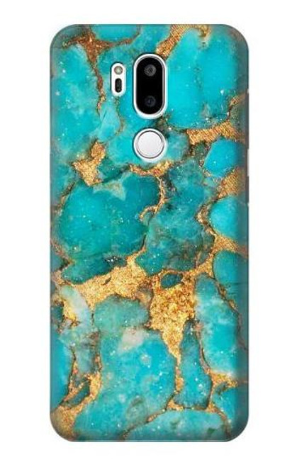 S2906 Aqua Turquoise Stone Case For LG G7 ThinQ