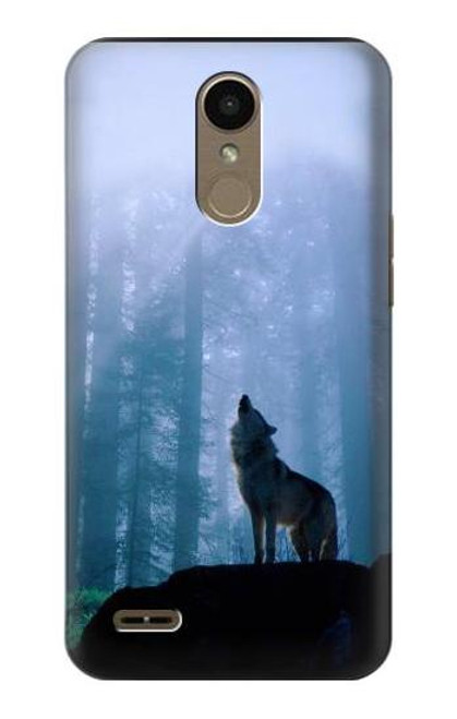 S0935 Wolf Howling in Forest Case For LG K10 (2018), LG K30