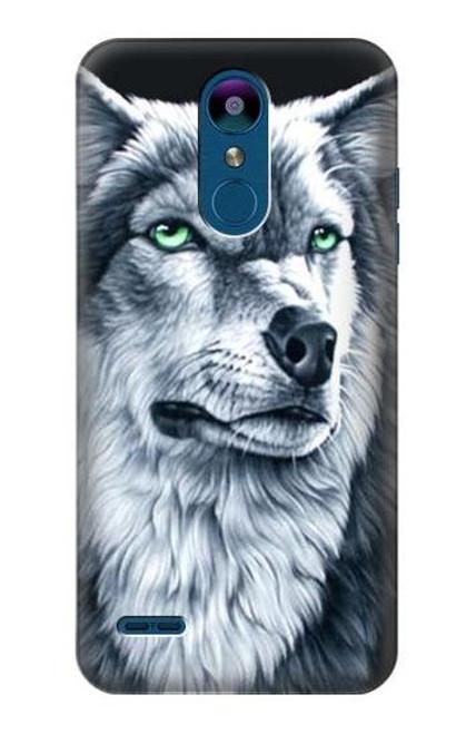 S0123 Grim White Wolf Case For LG K8 (2018)