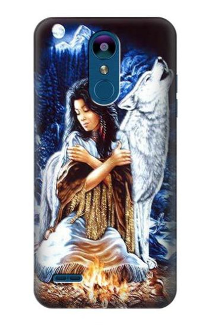 S0147 Grim Wolf Indian Girl Case For LG K8 (2018)