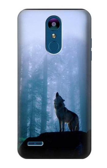 S0935 Wolf Howling in Forest Case For LG K8 (2018)