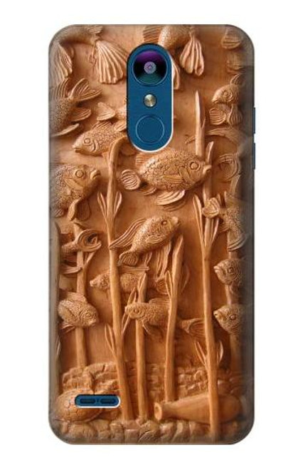 S1307 Fish Wood Carving Graphic Printed Case For LG K8 (2018)