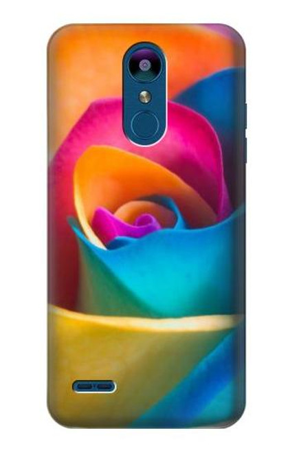 S1671 Rainbow Colorful Rose Case For LG K8 (2018)