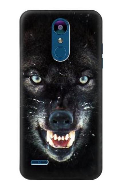 S2823 Black Wolf Blue Eyes Face Case For LG K8 (2018)