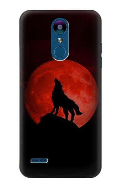 S2955 Wolf Howling Red Moon Case For LG K8 (2018)