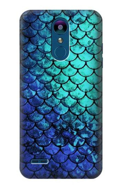 S3047 Green Mermaid Fish Scale Case For LG K8 (2018)