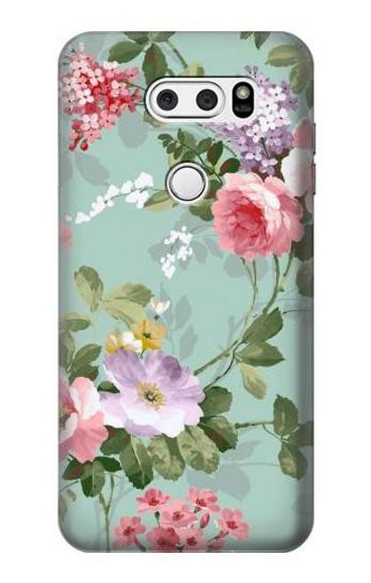 S2178 Flower Floral Art Painting Case For LG V30, LG V30 Plus, LG V30S ThinQ, LG V35, LG V35 ThinQ