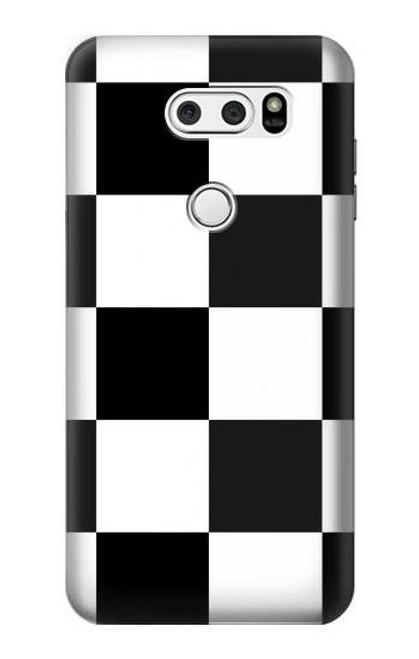 S2492 Black and White Checkerboard Case For LG V30, LG V30 Plus, LG V30S ThinQ, LG V35, LG V35 ThinQ