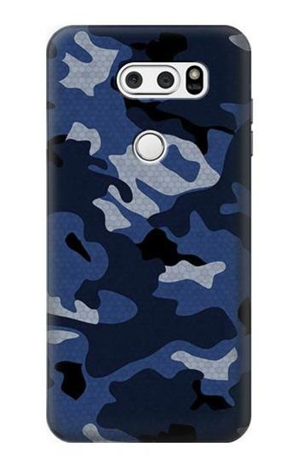 S2959 Navy Blue Camo Camouflage Case For LG V30, LG V30 Plus, LG V30S ThinQ, LG V35, LG V35 ThinQ