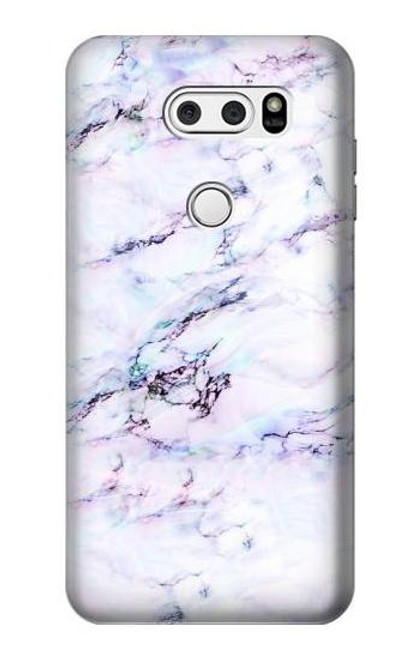 S3215 Seamless Pink Marble Case For LG V30, LG V30 Plus, LG V30S ThinQ, LG V35, LG V35 ThinQ