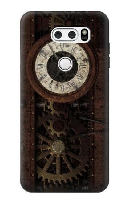 S3221 Steampunk Clock Gears Case For LG V30, LG V30 Plus, LG V30S ThinQ, LG V35, LG V35 ThinQ