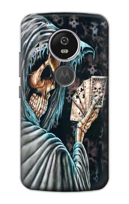 S0748 Grim Reaper Death Poker Case For Motorola Moto G6 Play, Moto G6 Forge, Moto E5
