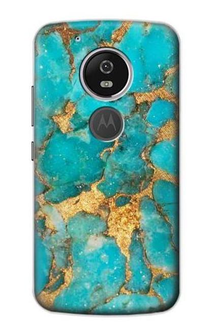 S2906 Aqua Turquoise Stone Case For Motorola Moto G6 Play, Moto G6 Forge, Moto E5